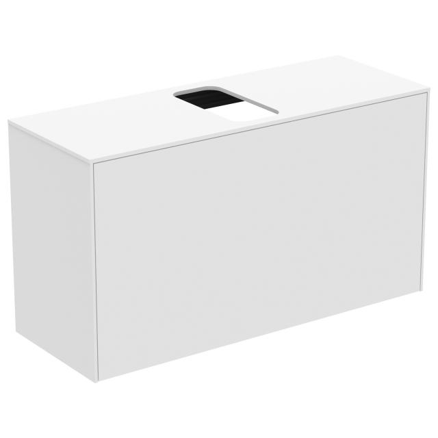 Ideal Standard Conca vanity unit with 1 pull-out compartment and 1 cut-out front matt white/corpus matt white