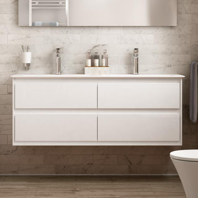 Ideal Standard Connect Air vanity unit for double washbasin with 4 pull-out compartments front white gloss / corpus white gloss/matt white