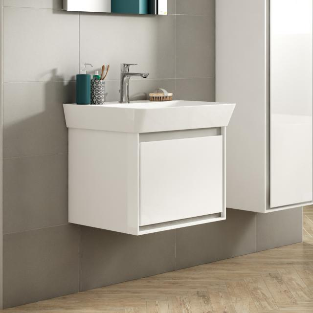 Ideal Standard Connect Air washbasin with vanity unit with 1 pull-out compartment white, with Ideal Plus