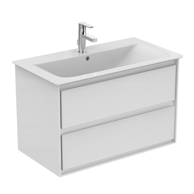 Ideal Standard Connect Air washbasin with vanity unit with 2 pull-out compartments white, with Ideal Plus
