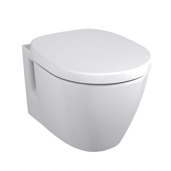 Ideal Standard Connect compact wall-mounted washdown toilet white