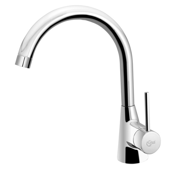 Ideal Standard Nora single lever kitchen mixer for front of window installation chrome