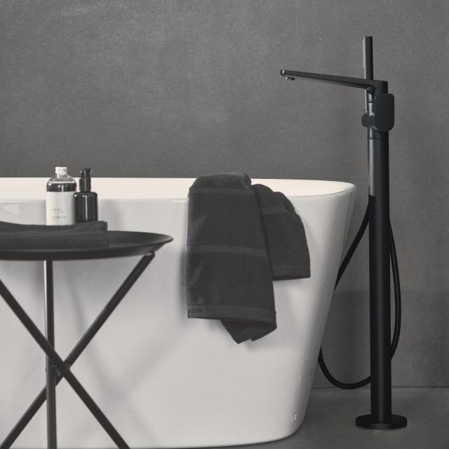 Ideal Standard Tonic II freestanding bath fitting silk black