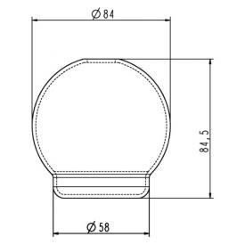 Jado replacement glass for dispenser
