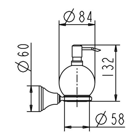 Jado Retro Lotion dispenser chrome