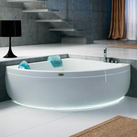 Jacuzzi AQUASOUL CORNER 155 corner whirlpool with panel with Rainbow + Heat