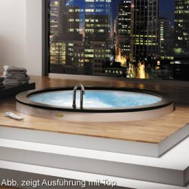 Jacuzzi NOVA Top Aquasystem Baignoire balnéo ronde, Ø 180 x 63 cm, sans habillage, avec robinetterie de remplissage blanc, avec système TOP AQS, avec fonction de remplissage via la robinetterie intégrée