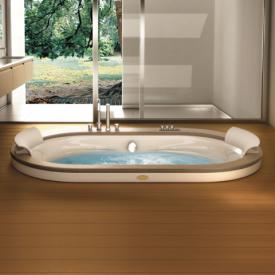 Jacuzzi Opalia oval whirlpool L: 190 W: 110 H: 63 cm with wooden paneling Teak