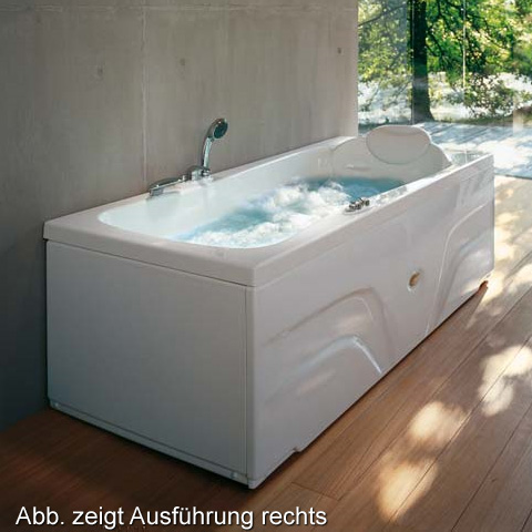 Jacuzzi HEXIS rectangular whirlpool without panelling without integrated bath spout