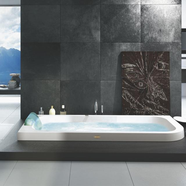 Jacuzzi AQUASOUL corner whirlbath, built-in white, without integrated water inlet, with Rainbow