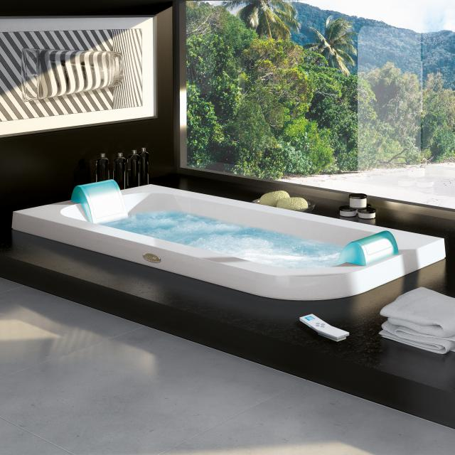 Jacuzzi AQUASOUL DOUBLE corner whirlbath, built-in white, without integrated water inlet, with Rainbow + Heat