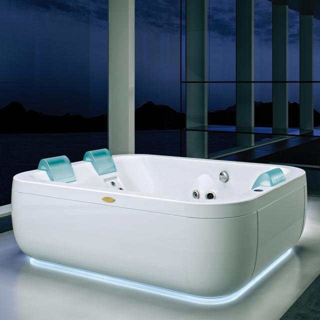 Jacuzzi AQUASOUL EXTRA freestanding whirlpool with panel with Rainbow