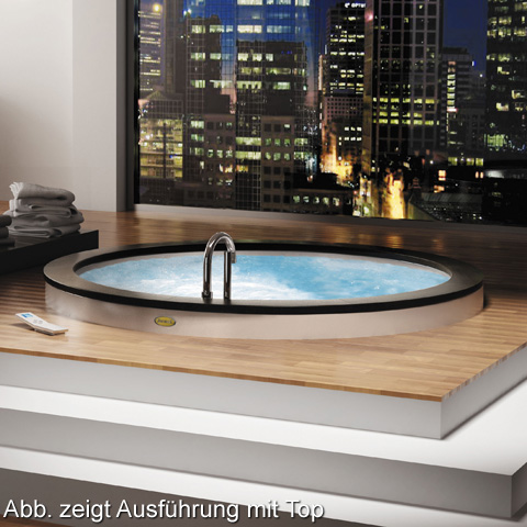 Jacuzzi NOVA round whirlbath, built-in white, with TOP AQS-System