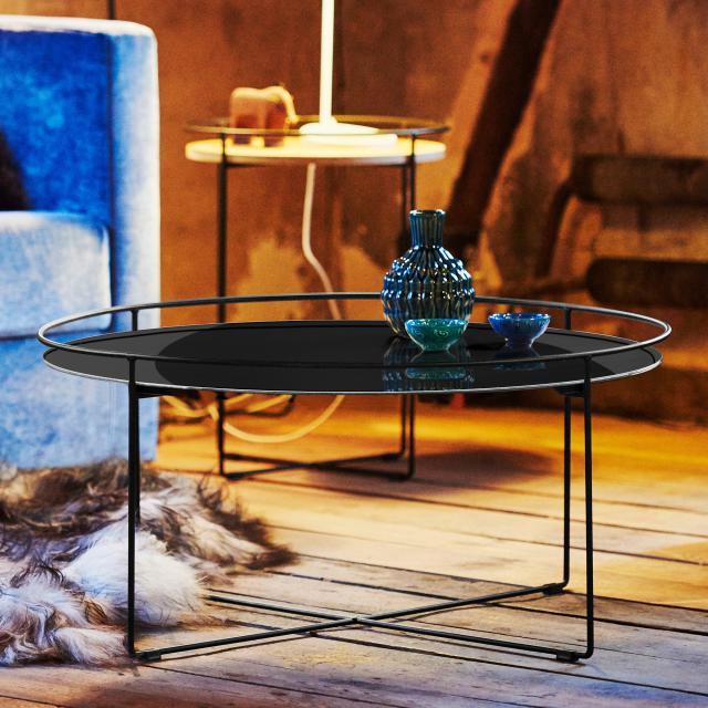 Jan Kurtz Clock coffee table, glass