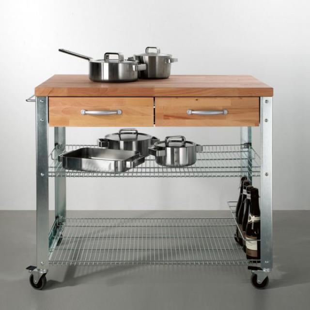 Jan Kurtz Cook kitchen trolley, 2 drawers