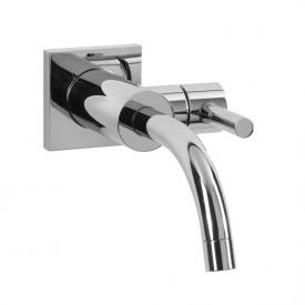 Jörger Charleston Square wall-mounted single lever basin mixer, trim set chrome