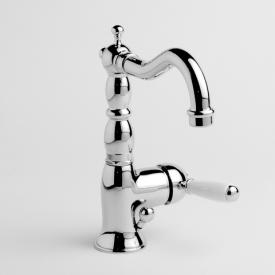 Jörger Delphi single lever basin mixer with white levers chrome