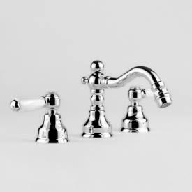 Jörger Delphi three hole bidet mixer with pop-up waste set chrome/white