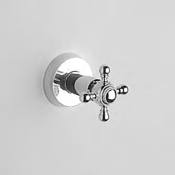 "Jörger Delphi shower mixer 1/2"" with wooden levers chrome/gold"