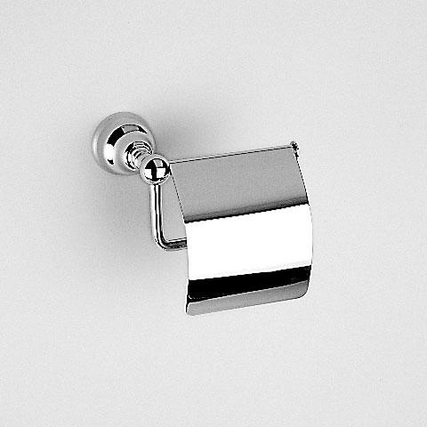 Jörger Delphi toilet roll holder with cover chrome