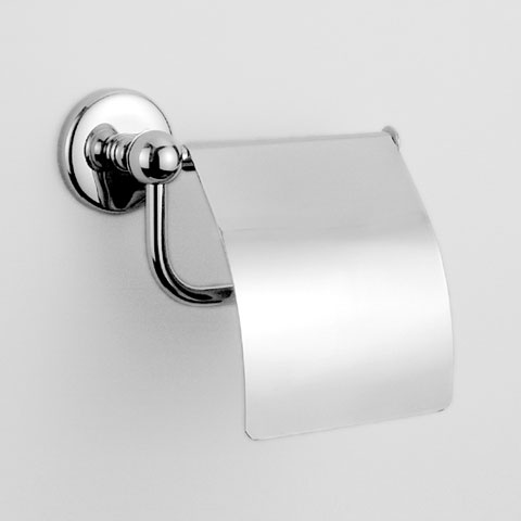 Jörger Series 1909 toilet roll holder with cover chrome
