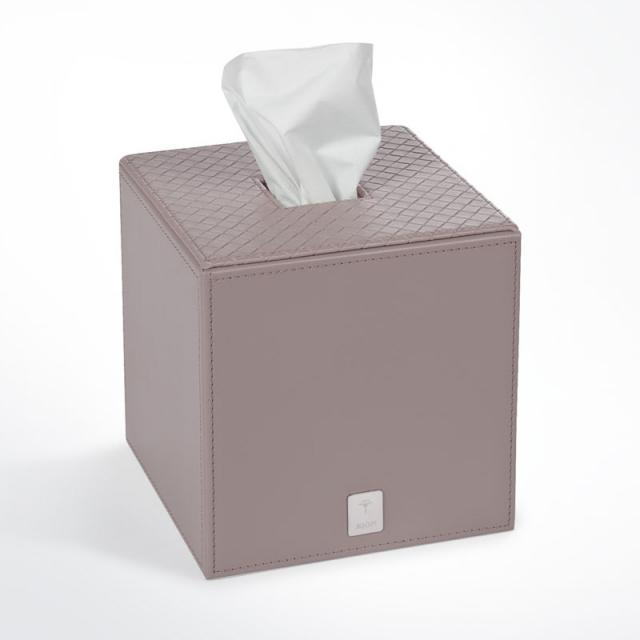 JOOP! BATHLINE tissue box square, grey-rosé