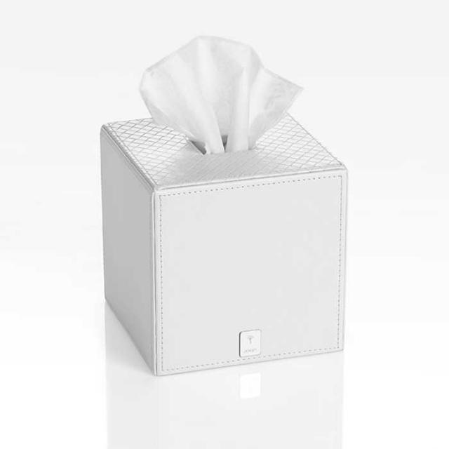 JOOP! BATHLINE tissue box square, white