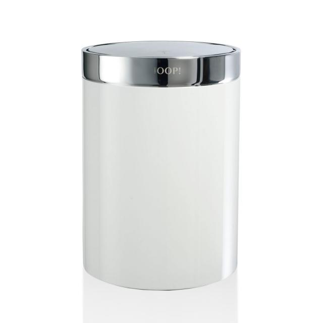 JOOP! CHROMELINE bathroom bin chrome/white