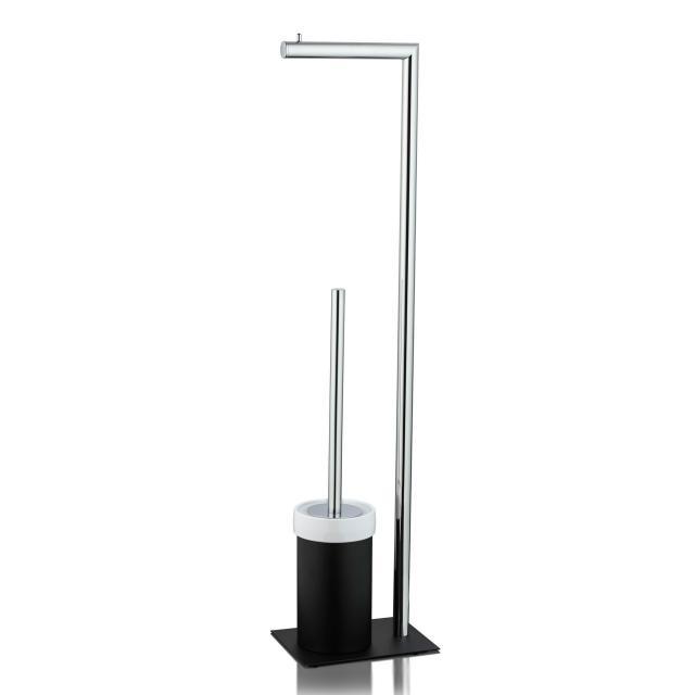 JOOP! CHROMELINE free-standing toilet brush combination black matt/chrome/white