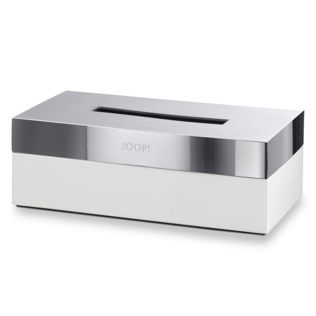 JOOP! CHROMELINE Kleenex box chrome/white