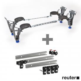 Kaldewei bath special legs 5037 incl. MEPA set of 3 support rails