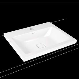 Kaldewei Cono drop-in washbasin white, with 1 tap hole
