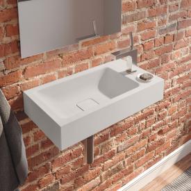 Kaldewei Cono hand washbasin matt pearl grey, with 1 tap hole