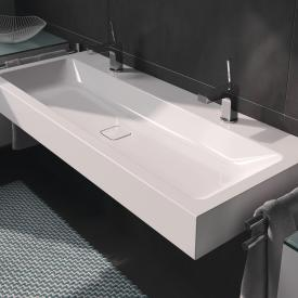 Kaldewei Cono wall-mounted washbasin with 2 tap holes