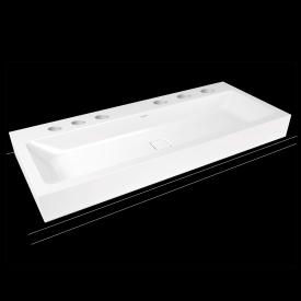 Kaldewei Cono wall-mounted washbasin with 6 tap holes