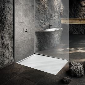 Kaldewei Nexsys floor-level shower element complete set Secure Plus, matt white, with standard waste