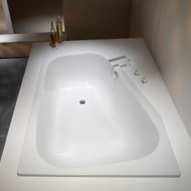 Kaldewei Plaza Duo compact bath white, with easy-clean finish