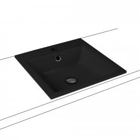 Kaldewei Puro drop-in washbasin black, with 1 tap hole