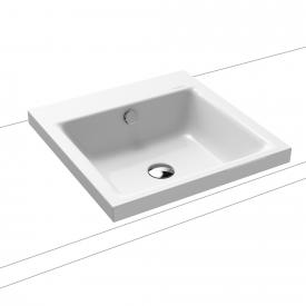 Kaldewei Puro drop-in washbasin white, without tap hole