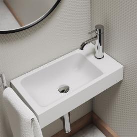 Kaldewei Puro hand washbasin matt white, with 1 tap hole
