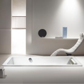 Kaldewei Puro & Puro Star rectangular bath with overflow at the side white, with easy-clean finish