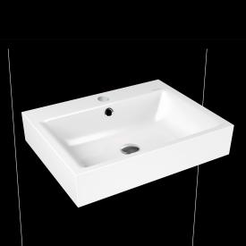 Kaldewei Puro wall-mounted washbasin white with 1 tap hole