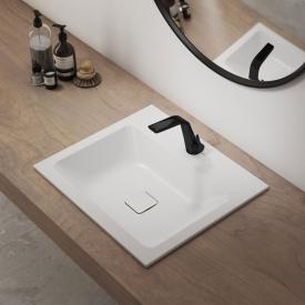 Kaldewei Set Cono drop-in washbasin with Steinberg 260 fitting white/matt black