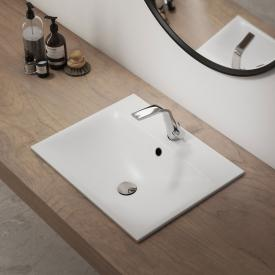Kaldewei Silenio drop-in washbasin white, with 1 tap hole, with overflow