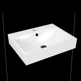 Kaldewei Silenio wall-mounted washbasin white, with 1 tap hole, with overflow