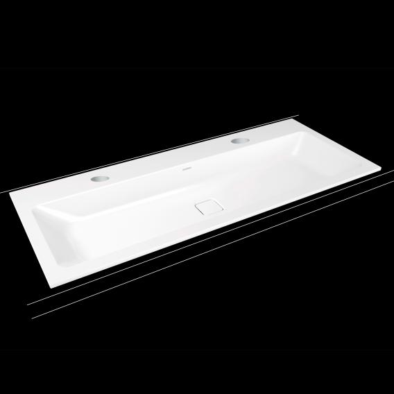 Kaldewei Cono double drop-in washbasin white, with 2 tap holes