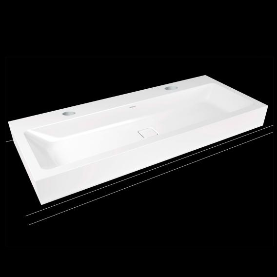 Kaldewei Cono double washbasin white, with 2 tap holes
