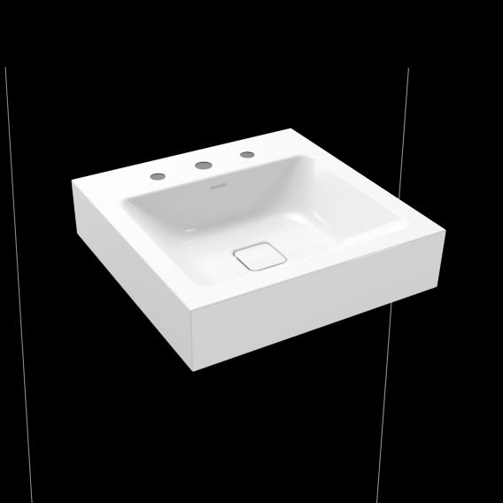 Kaldewei Cono hand washbasin white, with 3 tap holes