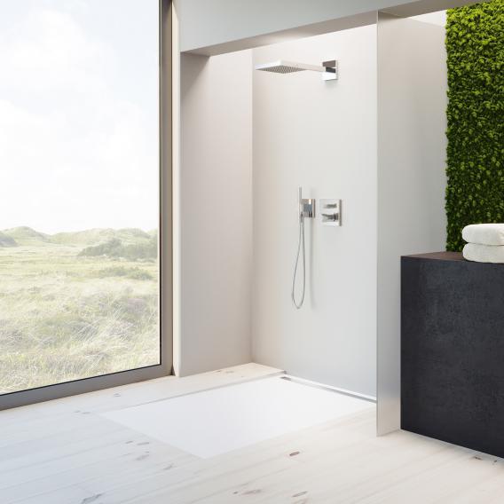 Kaldewei Nexsys floor-level shower element complete set white, with standard waste