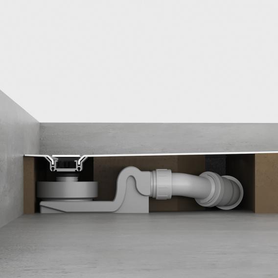 Kaldewei Nexsys floor-level shower surface complete set L: 100 B: 100 cm, with normal drain